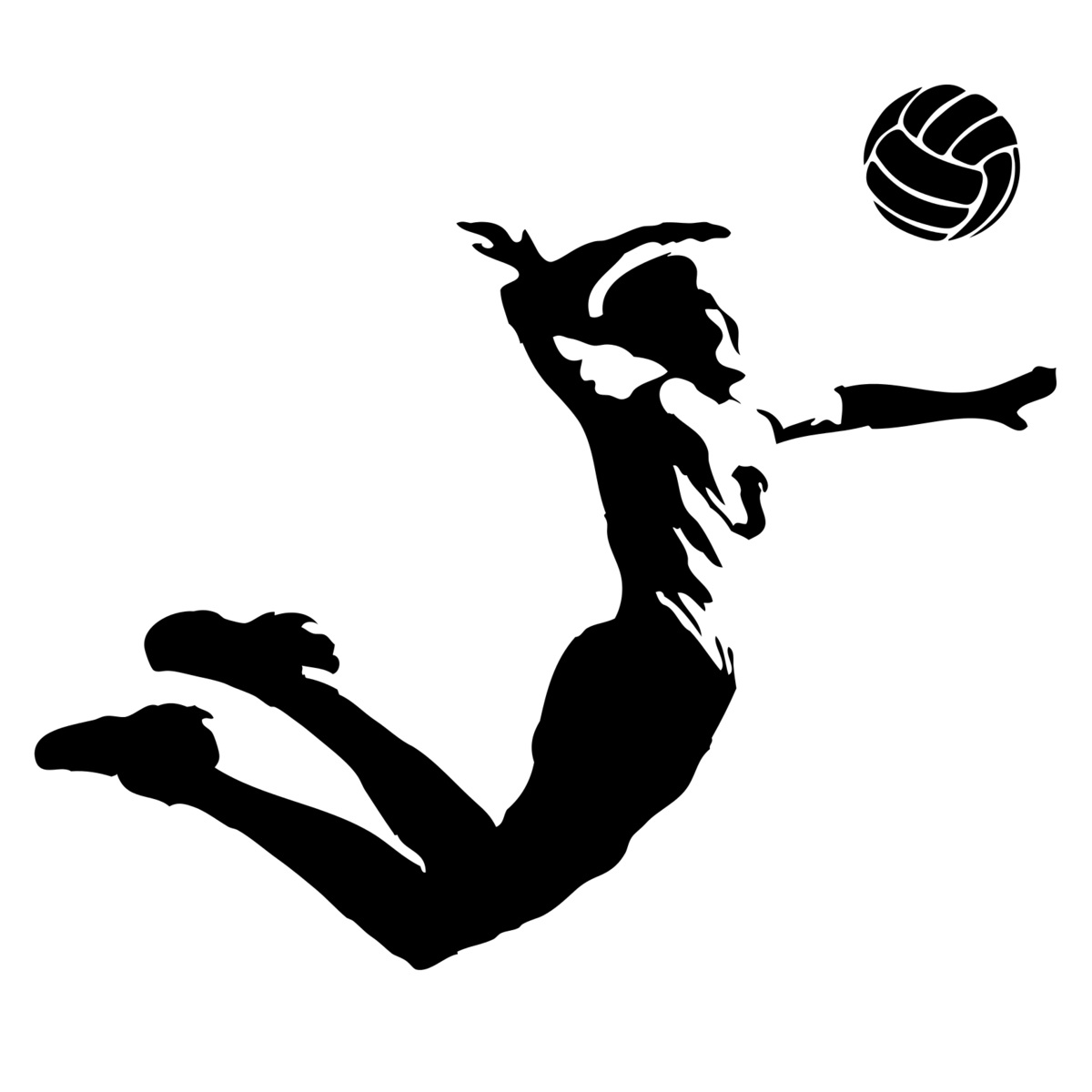 Breathtaking volleyball silhouette vector images